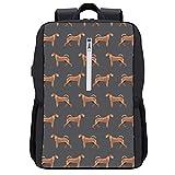 Boys Grils Rucksacks Back to School - Irish Terrier Dog Breed Pet Pattern Dog Art Bookbag College School Bookbag Travel Hiking & Camping Rucksack, Casual Daypack Climbing Shoulder Bag