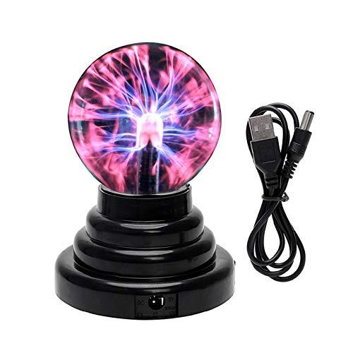 Dettelin Bola de plasma con luz táctil y activación de sonido, lámpara mágica, diversión y ciencia para fiestas para niños y adultos