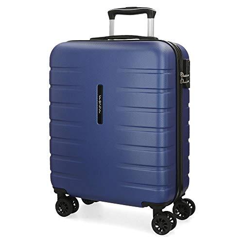 Movom Turbo Maleta de cabina Azul 40x55x20 cms Rígida ABS Cierre combinación 37L 2,7Kgs 4 Ruedas dobles Equipaje de Mano