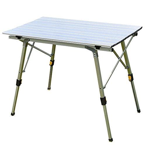 GYH zhuozi LJHA Table Se Pliante/Levage/Table portative extérieure de Salle à Manger/Table Se Pliante d'alliage d'aluminium Table