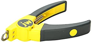 yellow and black guillotine style cat nail trimmers