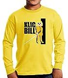 Camiseta Manga Larga de NIÑOS Click Playmobil Kill Bill 001 11-12 años