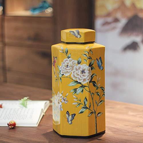 WHYTT Urna de cremación para Cenizas Grande de Cerámica conmemorativo para Adultos, urna funeraria, Hermosa urna, Peces, Insectos, pájaros y Bestias, 15.5cm * 30.5cm