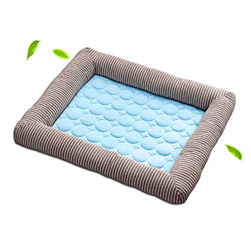 Queta Schlafmatte,Sommer Kühlmatten Decke EIS Haustier Hund Katze Schlafmatten für Katzen und kleine bis mittelgroße Hunde 70x52cm (Hellblau)