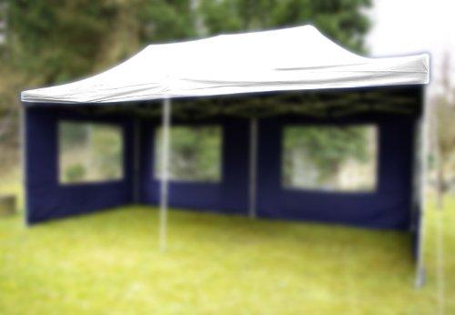 Nexos Pavillondach Ersatzdach Wechseldach für Profi Falt-Pavillon 3x6m - Dachplane 270g/m² PVC-Coating versiegelte Nähte wasserdicht – Farbe: weiß