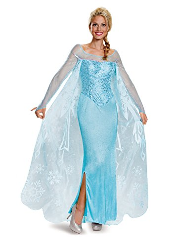 Disguise Frozen Adult Elsa Prestige Costume Medium Blue