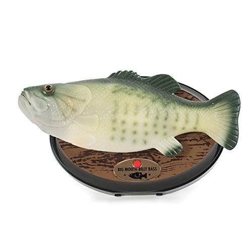 Big Mouth Billy Bass - Der singende & tanzende Fisch ca 28 cm (Don't Worry be Happy & I'll Survive)