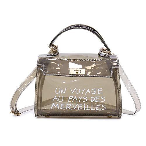 PVC Transparente Umhängetasche Damen Messenger Bag Mit Sub-Tasche, Koreanischen Stil Vielseitige Umhängetasche Handtasche Für Frauen