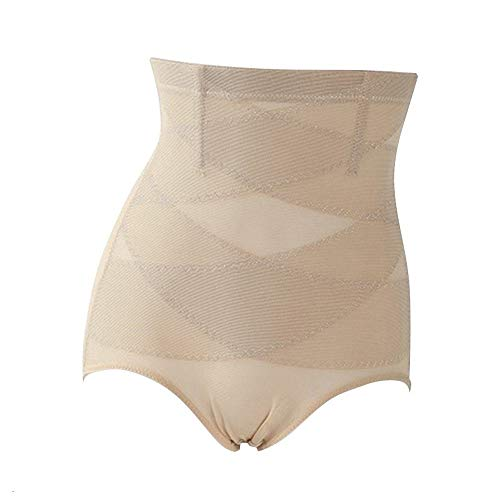 Vrouwen High Waist Trainer Body Shaper Panties Tummy Belly Controle lichaam vermagering Controle Shapewear Gordel Ondergoed Naadloze New ZHQHYQHHX (Color : Khaki, Size : XXXL)