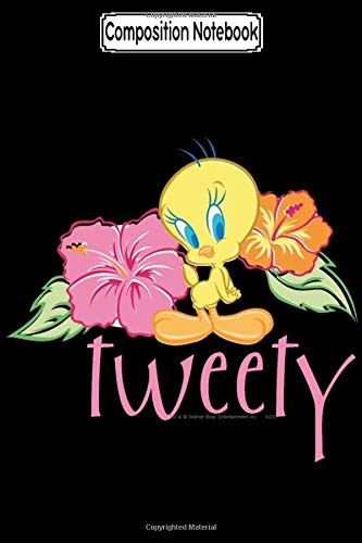 Composition Notebook: Tweety Tropical Flowers Looney Tune Bug Bunny Warren Foster Journal/Notebook Blank Lined Ruled 6x9 100 Pages