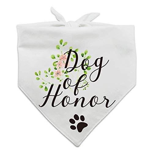 Dog of Honor, Maid of Honor Wedding Dog Bandana, Wedding Photo Prop,...
