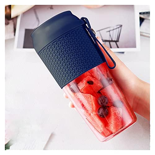 XKMY Juicer Cup portátil USB eléctrico Mini exprimidor de batidos de mano Licuadora personal Juicer magnético seguro carga uice Cup botella de agua (color : BU)