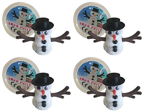 HAPPY DEALS ~ Build a Snowman Snowman Slime/Putty - 4 Pack - Stocking Stuffers