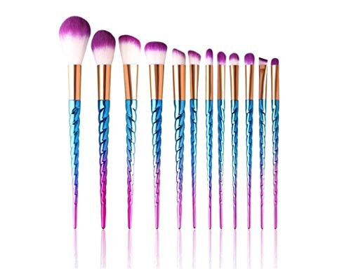 Safetysale - Juego de pinceles de maquillaje profesional, con diseño de unicornio,...
