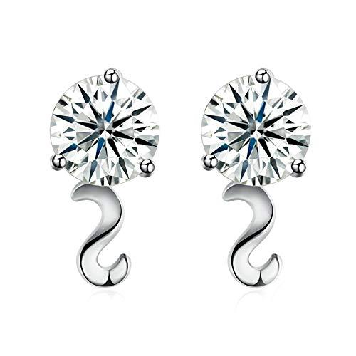 Bishilin Hochzeit Ohrstecker Orientalisch Buchstabe S mit Zirkonia Silber 925 Damen Ohrringe Charms