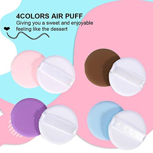 8 Pcs/Set Mixed Colors Makeup Powder Foundation BB Cream Air Cushion Puff Cosmetic Tool, Powder Puff Air Cushion Puff Puff Powder Sponge Face