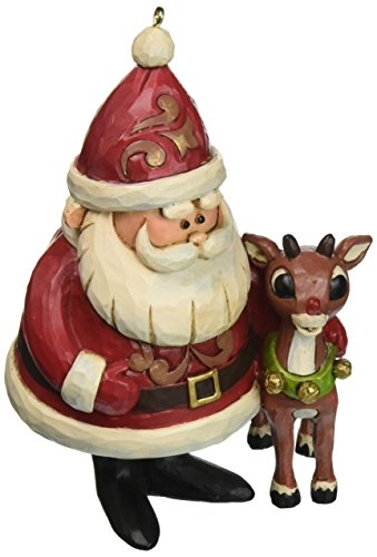 "Jim Shore ""Rudolph the Red-Nosed Reindeer"" Traditions, 50th Anniversary Stone Resin Ornament, 4.25"""