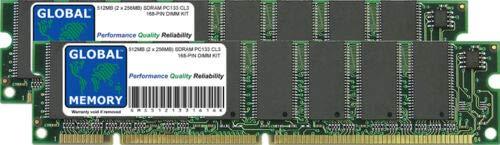 GLOBAL MEMORY 512MB (2 x 256MB) PC133 133MHz 168-PIN SDRAM DIMM Memoria...