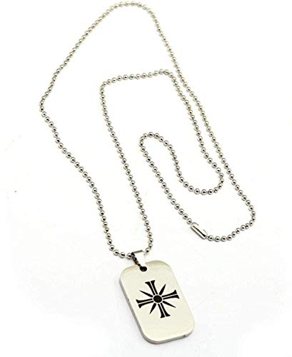 New Stainless Steel Game of Dog Tag Necklace Cross Metal Charm Chains