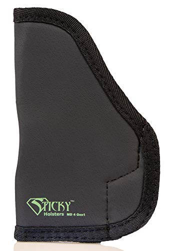 STICKY HOLSTERS - Coldre Sub Compact (IWB) MD-4-GEN1 de pilha dupla