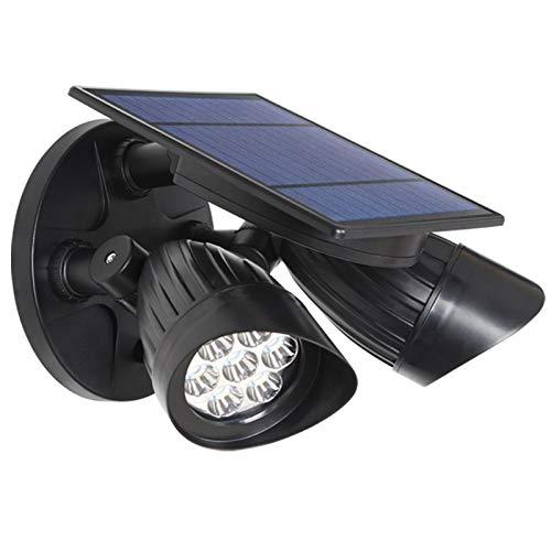 FREEDL LED Foco Solar Exterior con Sensor de Movimiento, Solar de Seguridad Impermeable lámpara de pared 360 ° Girar Ajustable Gran Ángulo 150º de Iluminación farola Jardín Patio Garaje Delantera