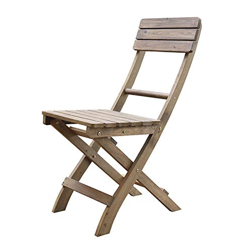 Simple Solid Wood Foldable Chair, Outdoor Milk Tea Coffee Shop Garden Chair, Household Solid Wood Outdoor Balcony Lounge Chair