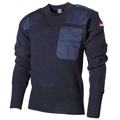 MFH Schwerer Bundeswehr Pullover mit Brusttasche (Blau/50)