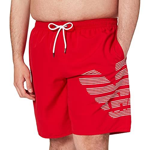 Emporio Armani Swimwear Bermuda Logoband Costume da Bagno, Black, 56 Uomo