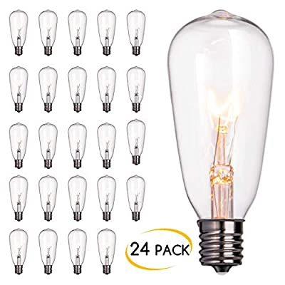 24-Pack Edison Replacement Light Bulbs