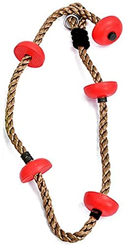 Niños s oscilación Deportes al Aire Libre Kindergarten Escalada Juguetes Disco Escalada Cuerda roja-Rojo