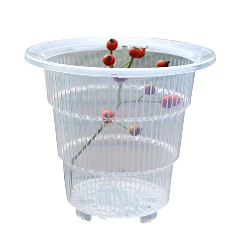 HONUTIGE Clear Plastic Orchid Pots with Holes, Durable PP Transparent Flower Pot with/without Bottom Air Column for All Kinds of Orchid, Succulent, Fleshy Plants