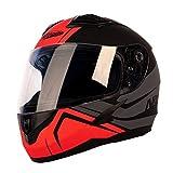 Nitro N2400 Rogue Motorcycle Helmet Satin Black Gun Red (XL)