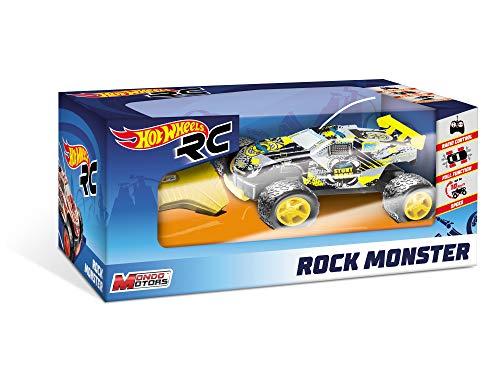 Mondo Motors- Hot Wheels Rock Monster 17cm Voiture radiocommandée-Buggy-Tout-Terrain-Jouet Enfant-3 Ans et Plus, 63339, 3 Coloris Disponibles