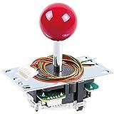 Sanwa JLF-TP-8YT Original Joystick Red - for Arcade Jamma Game 4 & 8 Way Adjustable, Compatible with Catz Mad SF4 Tournament Joystick (Red Ball Top) S@NWA