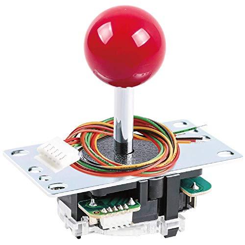 Sanwa JLF-TP-8YT Original Joystick Red - for Arcade Jamma Game 4 & 8 Way Adjustable, Compatible with Catz Mad SF4 Tournament Joystick (Red Ball Top)...