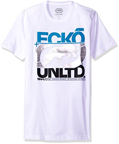 Ecko UNLTD Men's in The Cut Tee Shirt, White, Small