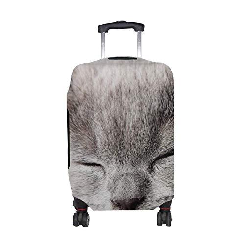 Kitty Muzzle Sleep Pattern Print Protector de Equipaje de Viaje Funda de Maleta para Equipaje de 18 a 21 Pulgadas