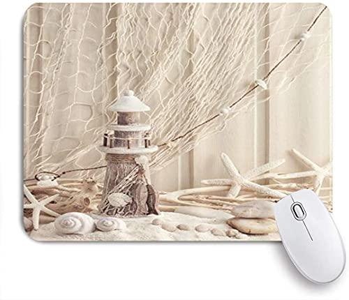 XWJZXS Alfombrilla de ratón , Caracol de Vida Marina en Mal Estado de Woden, para Oficina, hogar y Juegos, Alfombrilla de ratón, Base de Goma Antideslizante