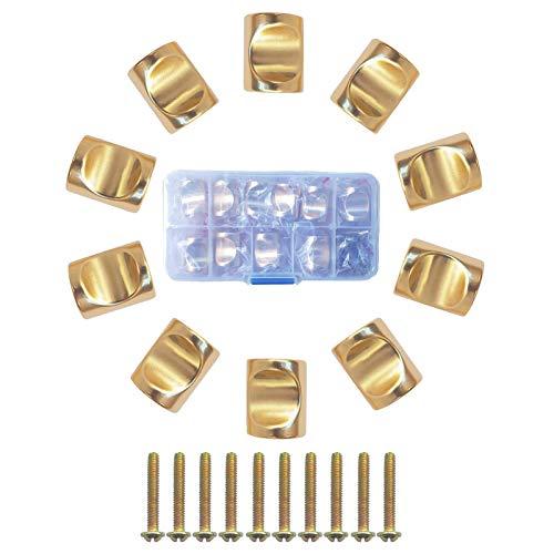 Chunyu 取っ手 つまみ 10 個 セット ドアハンドルワードローブ 家具 収納 木箱 キャビネット つまみ 引き出しノブ 取手 DIY 工具 ネジ付き /(ゴールド)