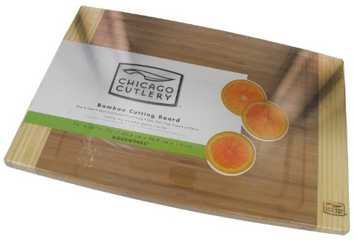 Chicago Cutlery Woodworks Bamboo Cutting Board (14-Inch x 20-Inch)
