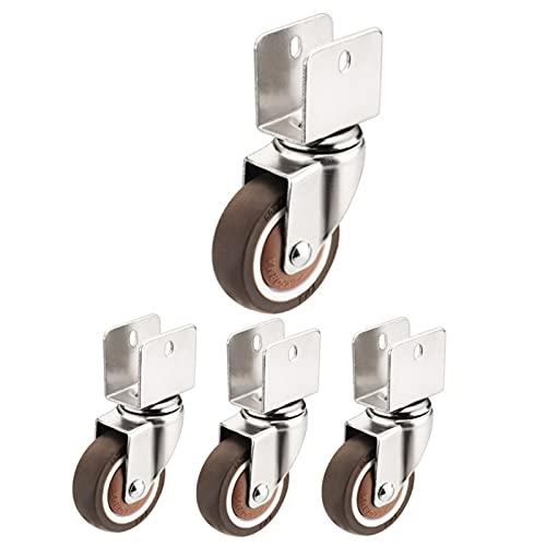 Filit Ruedas giratorias,Ruedas pequeñas,4X Ruedas giratorias móviles,Ruedas giratorias para Muebles con Frenos,Ruedas de Carro,50 mm,4swivel-22mm/0.9in