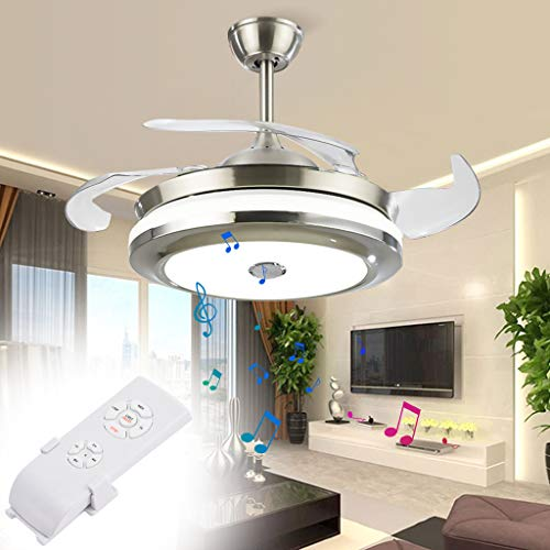 42' Modern Ceiling Fan with LED Light and Remote Kit,...