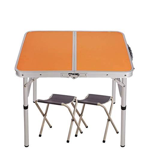 MotBach Mesas Plegables Mesas de Picnic Plegables, Dos sillas con Altura Ajustable Adecuado para campestre al Aire Libre Picnic Picnic Fiestas y Mesa Plegable de Banquete (Color : C)