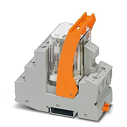 PHOENIX CONTACT RIF-4-RSC-LDP-24DC/3X21 - Módulo de relé premontado con conexión roscada, zócalo de relé, relé de potencia y soporte de retención, 3 cambios, voltaje de entrada de 24 V CC, 5 unidades