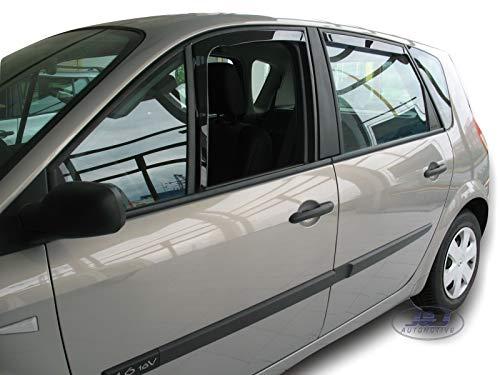 J&J AUTOMOTIVE | Deflecteurs d'air Déflecteurs de Vent Compatible avec Scenic II et Grand Scenic 2003-2009 4pcs