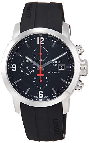 Tissot Herren-Armbanduhr T0554271705700 PRC 200, Analog-Anzeige, Schweizer Automatik, Schwarz