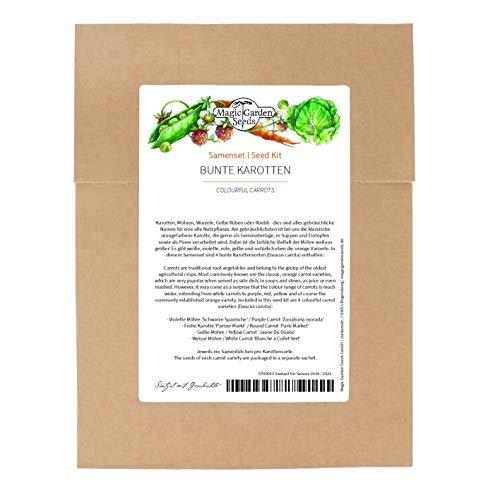 Zanahorias de colores - kit de semillas con 4 variedades especiales y viejas