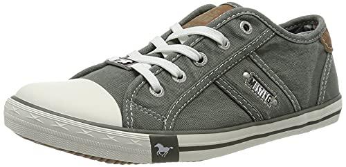MUSTANG Damen 1099-302 Sneaker, grün/grau, 38 EU