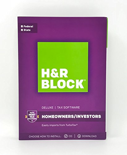 H&R BLOCK Tax Software Deluxe + State 2017