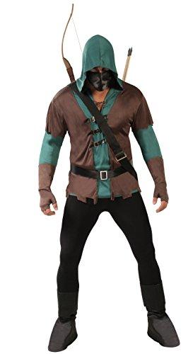 Guirca- Disfraz adulto arquero, Color marrón, Talla 52-54 años (80722.0)